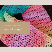 Easy V-Stitch Scarf - Free Crochet Pattern