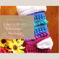A Berry Merry Christmas Stocking - Free Crochet Pattern