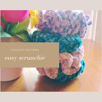 Easy Scrunchie - Free Crochet Pattern